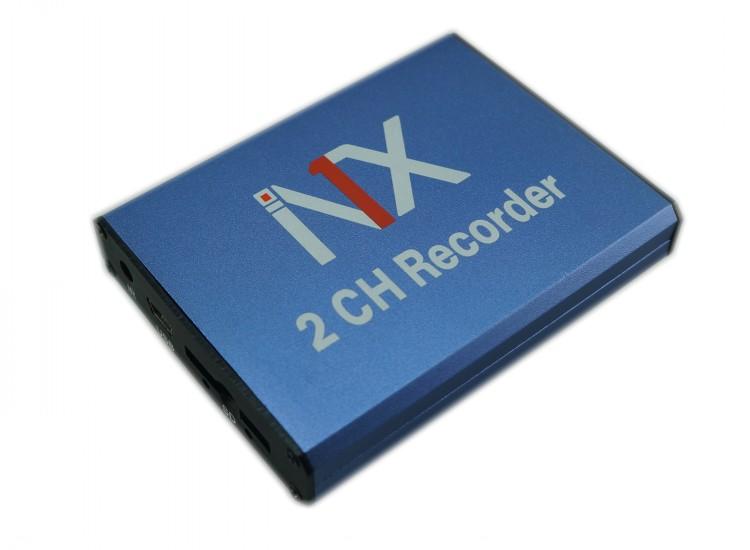 2路出租车录像机两路车载DVR的士音视频存储主机最大支持128G