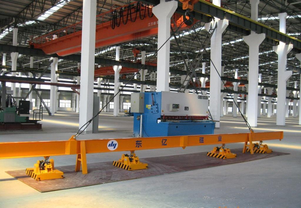 供应1吨全自动永磁吸盘 自动永磁起重器 钢板铁板吸盘 全自动磁力吊