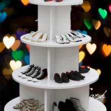 木質圓形中島柜 展示柜 貨架化妝品童鞋柜 包包母嬰圖書架 禮品紅酒柜圖片