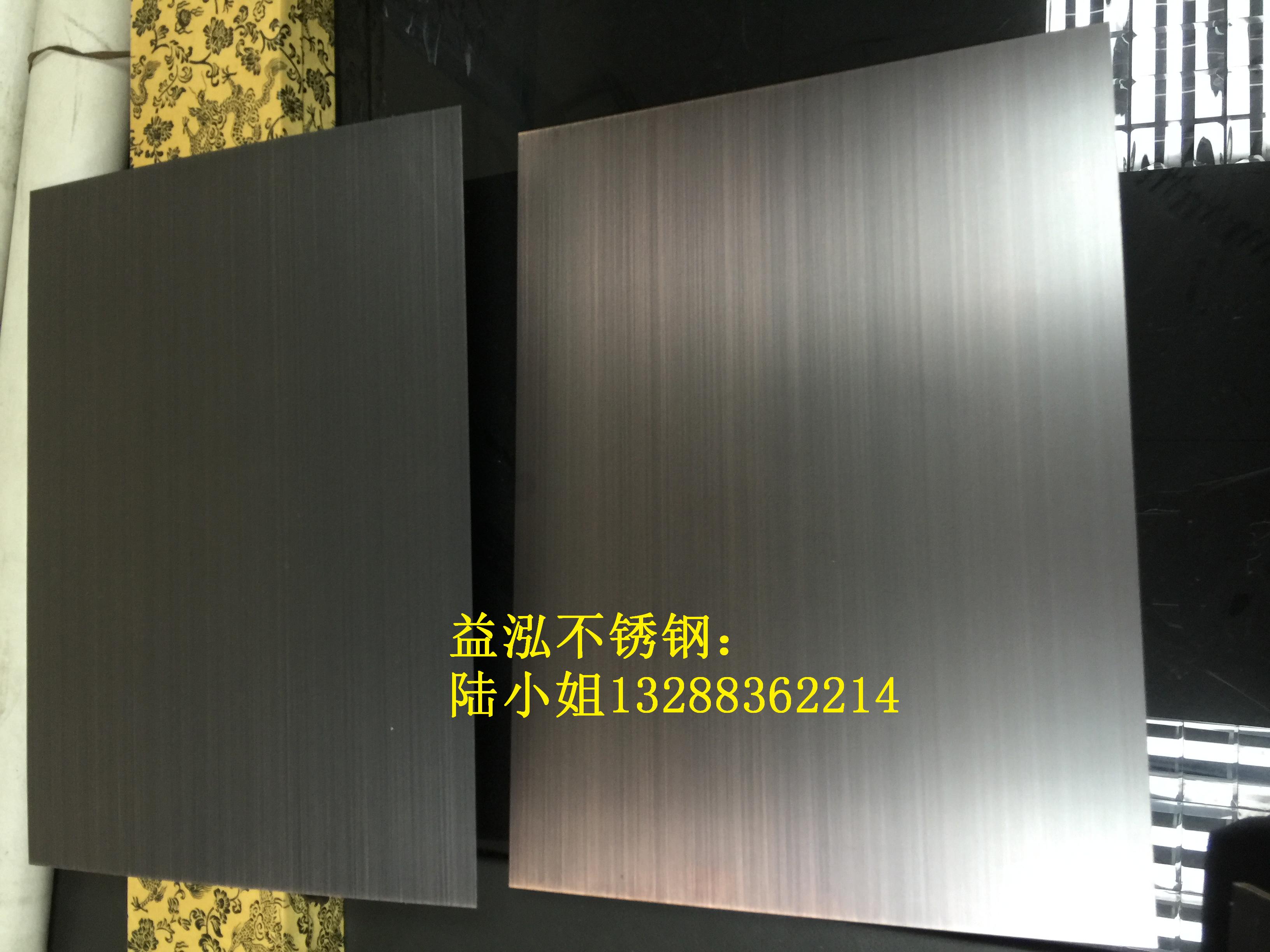 黑色拉丝不锈钢镀铜 黑色拉丝不锈钢镀铜板厂家批发