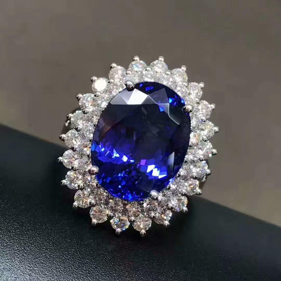 高端大气宝石 蓝刚玉宝石装饰 红宝石装饰 水晶蓝宝石 梧州天然水晶宝石Spodumene