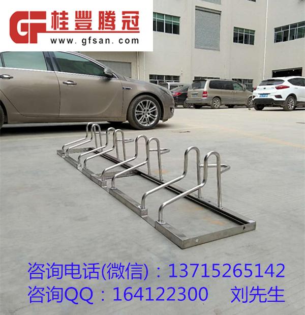 杭州市区商业街道安装了自行车停车