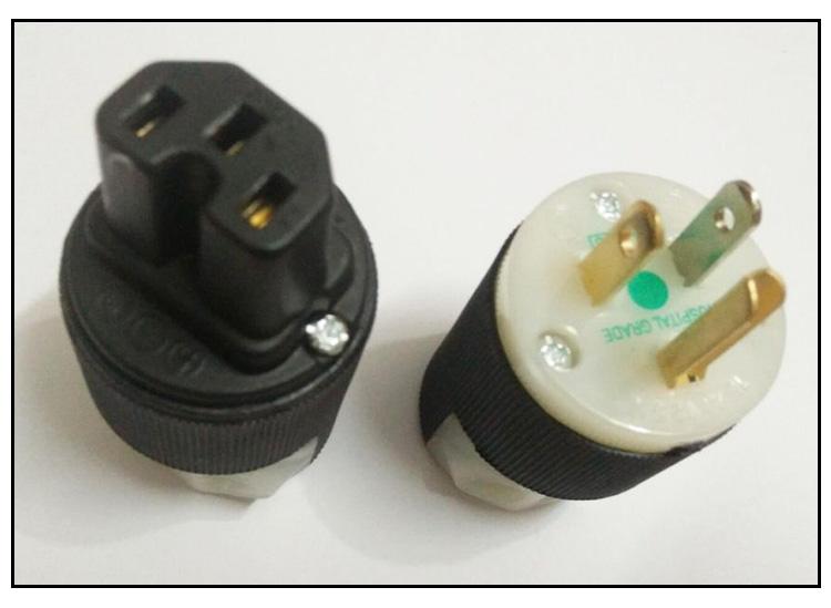 供应HUBBELL(胡贝尔)荷宝8215c纯黄铜电源插头价格/供应商价格/批发价格/大气电源插头哪家好