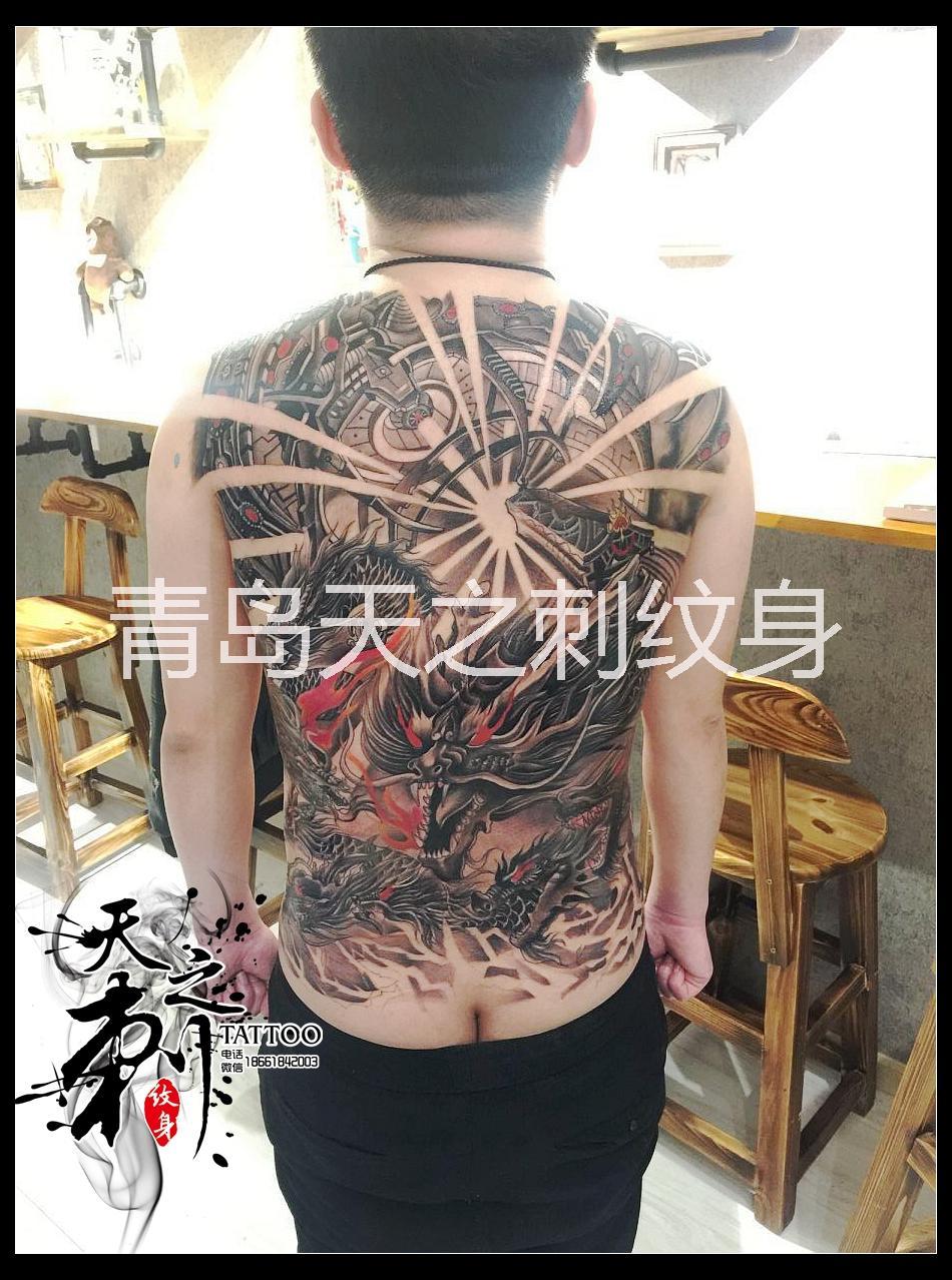 九龙拉棺纹身图案 青岛纹身图案