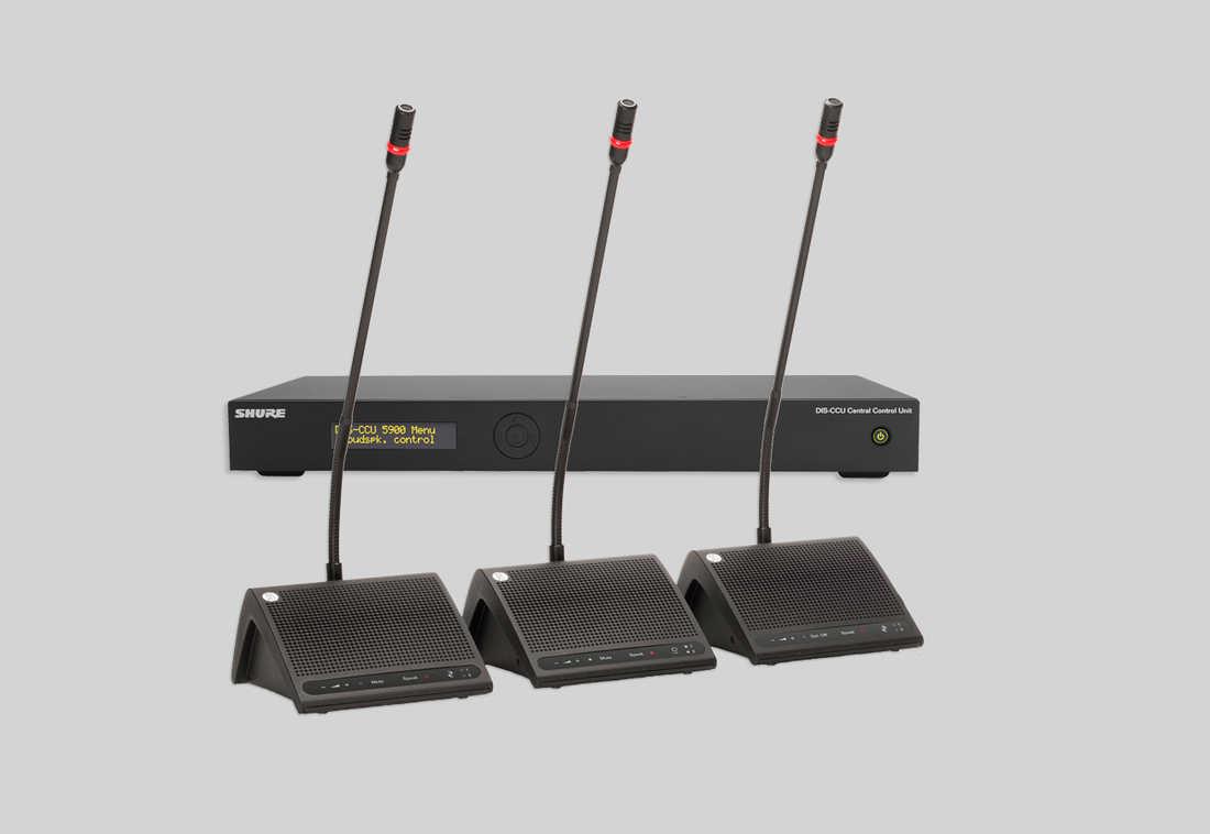 舒尔DDS 5900 数字会议手拉手系统