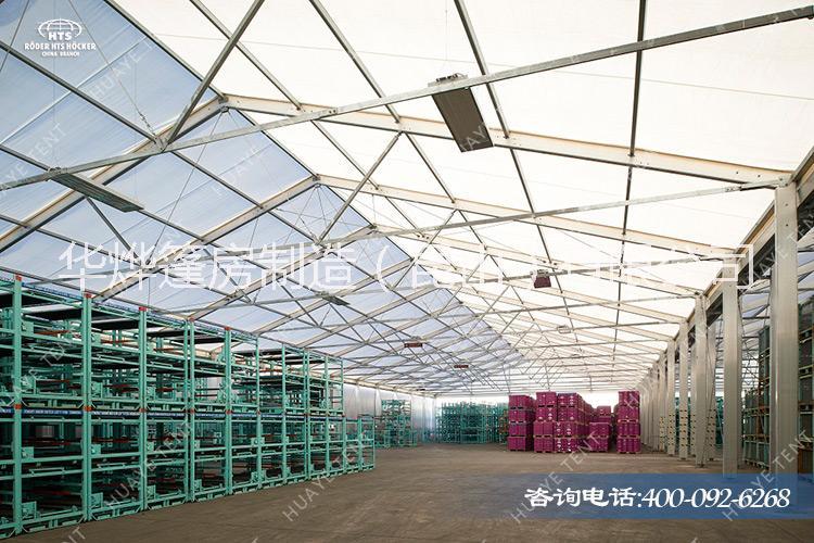 白色PVC篷布的大型工业帐篷 使用寿命可达30-50年