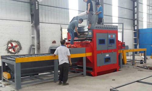 新型双面往返式自动喷砂机  不锈钢板双面自动喷砂机  韶关不锈钢板双面喷砂机