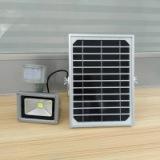 厂家直销10W红外感应太阳能泛光灯室外照明灯具