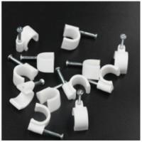 加强型圆形线卡3.5-14MM 塑料卡子U型卡 钢钉电线卡加宽加厚型管卡