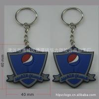 厂家专业生产卡通PVC软胶匙扣 双面PVC钥匙扣