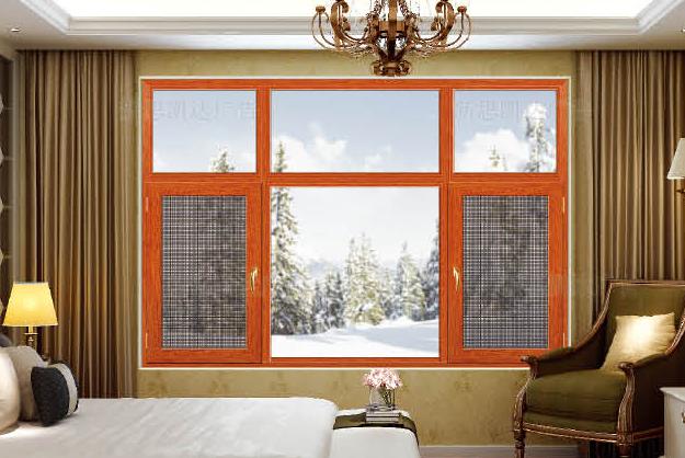 平开窗厂家直供 广东门窗专家 新款130系列窗纱一体平开窗