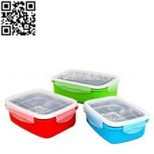 不锈钢韩式塑钢组合保鲜盒绿色,蓝色,红色