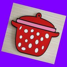 厨房用品 环保滴胶餐垫锅垫 pvc立体软胶杯垫批发