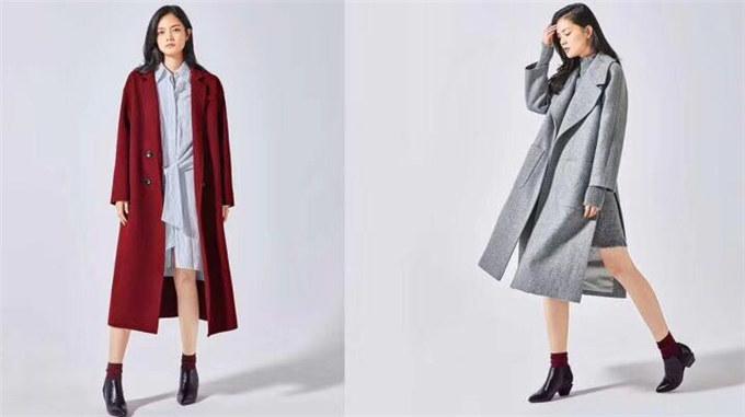 供应羊毛大衣品牌折扣女装折扣批发