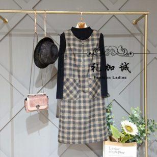 新款时尚慕希女装品牌折扣尾货剪标图片