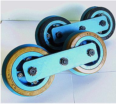 猴车双托轮组件175G型  矿用猴车配件