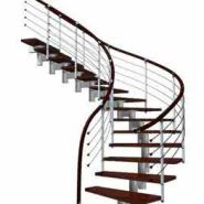 钢木楼梯图片