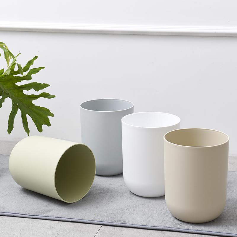 日式简约圆形家用无盖卧室小号收纳桶  日式简约圆形无盖桶