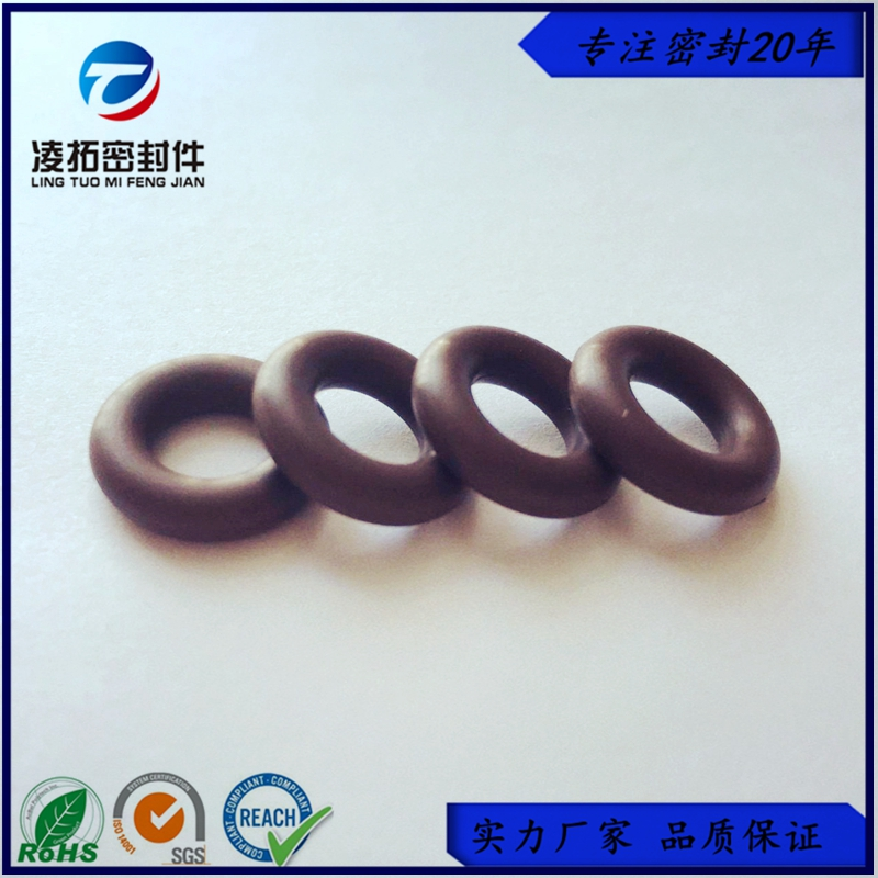 棕色氟胶O型圈耐高温耐腐蚀咖啡色VITON氟橡胶O形密封圈