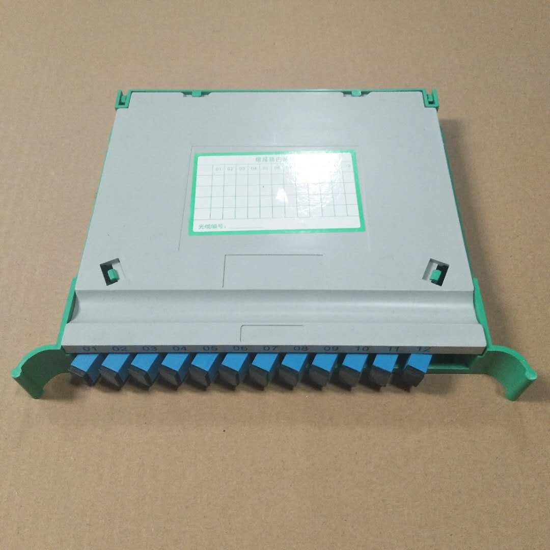 12芯一体化托盘ODF熔纤盘12芯尾纤束状sc方头 满配SC熔纤盘