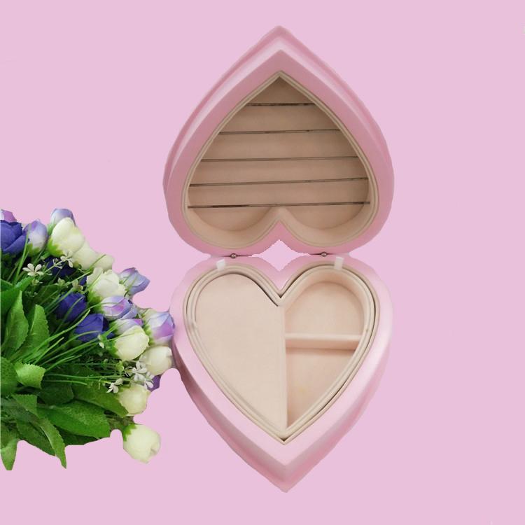 专业制作心形喷油木质首饰盒 珠宝首饰收纳盒 礼品包装盒可定制
