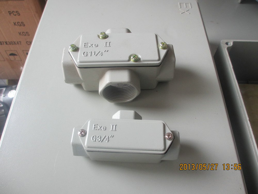 BHC-G1/2铝合金防爆穿线盒元宝形穿线盒    BHC-G1铝合金防爆穿线盒