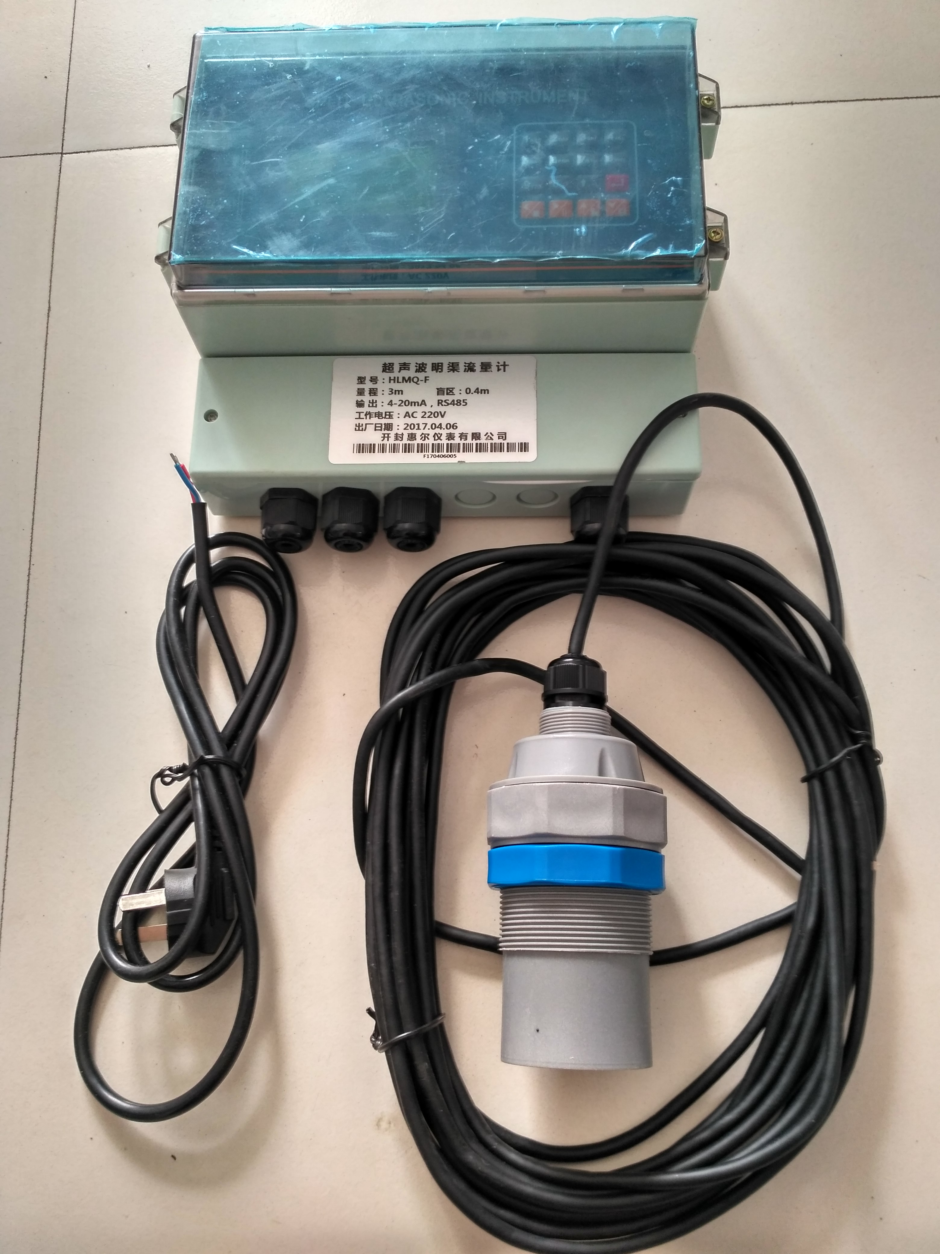 GPRS无线远传太阳能板流量计  12V太阳能供电超声波明渠流量计