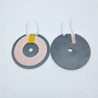 带槽50MM1.0磁片无线充电发射线圈 丝包双层线圈