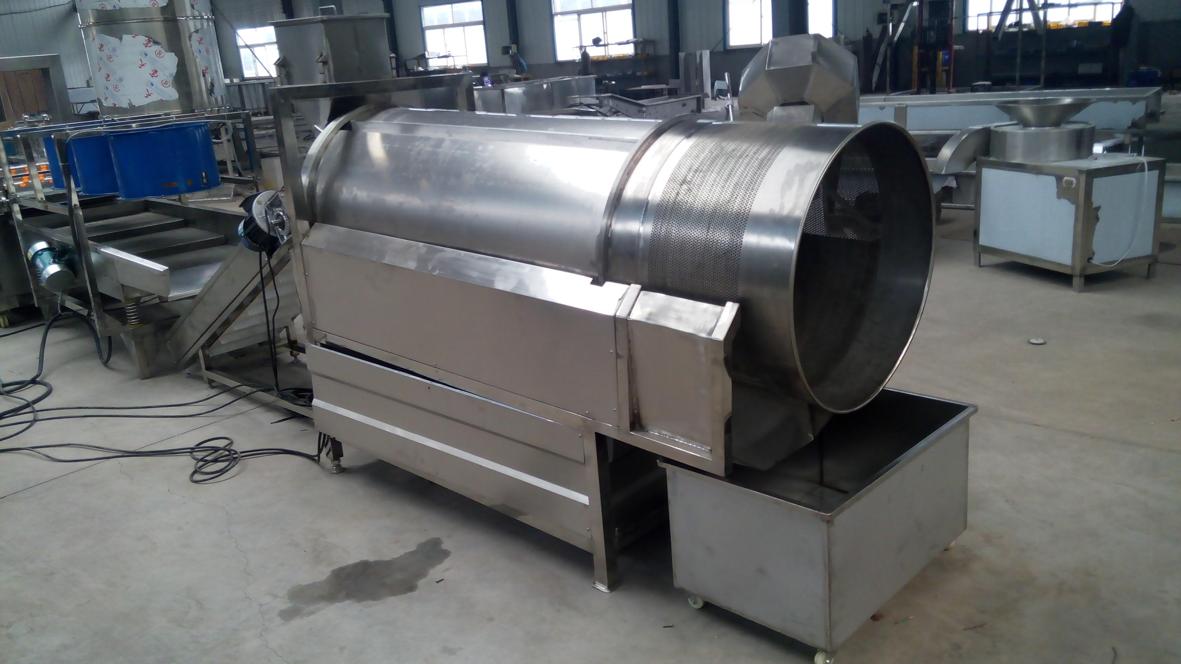 供应混合搅拌设备连续式不锈钢滚筒调味/连续式滚筒调味机价格