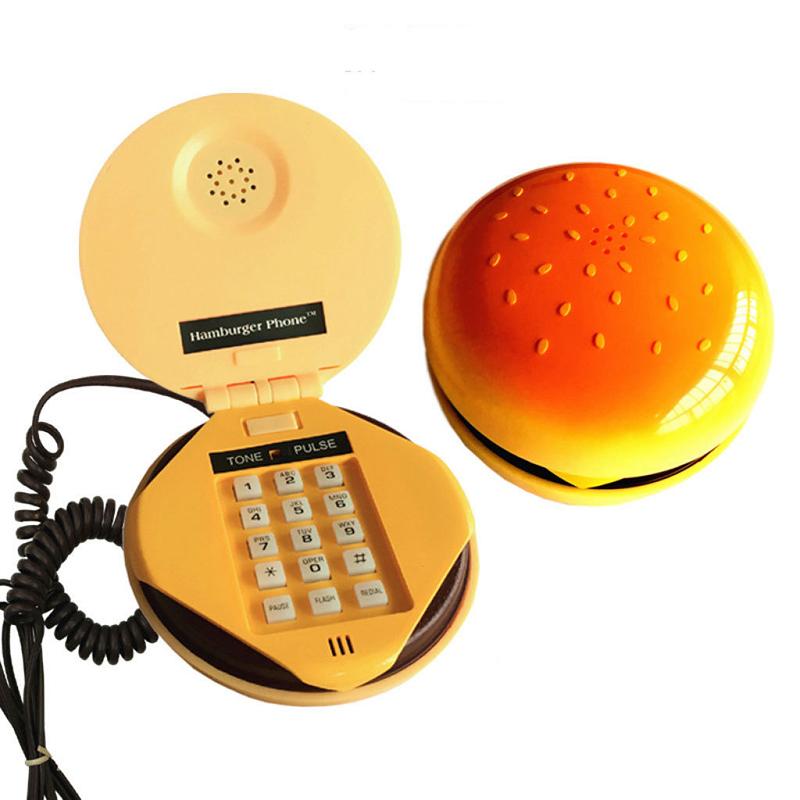 卡通汉堡包电话机 逼真KFC座机  办公话机批发 家用电话机 分机 韩版电话机