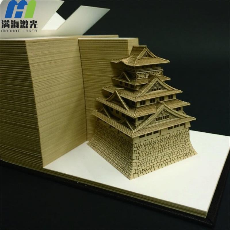 日本同款omoshiroi block日本建筑模型便签纸3d便签纸定制大阪城立体模型便签纸批发