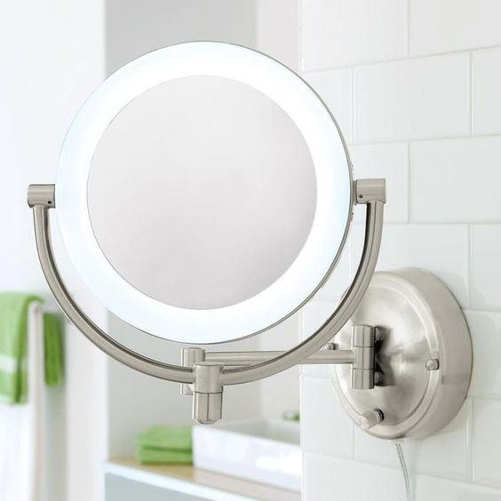 全铜浴室化妆镜伸缩镜梳妆镜壁挂折叠镜子卫生间放大镜美容镜 双面镜