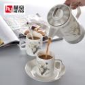 骨瓷咖啡具套装陶瓷下午茶具定制图片
