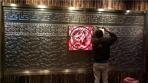 伊宁铝浮雕壁画及大堂装饰浮雕壁画订做铝板镀铜装饰雕刻壁画厂家直销