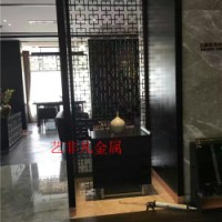 深圳厂家定制古典屏风 餐厅不锈钢玄关隔断 玫瑰金拉丝玄关 厂家特价