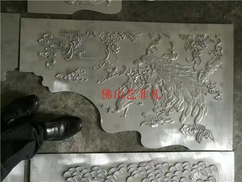 牡丹江仿古铝板立体浮雕镂空壁画 会所装饰酒店装饰铝板背景墙