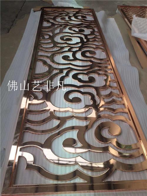 营口孔雀立体3d超强立体铝板浮雕屏风 图案雕刻专业