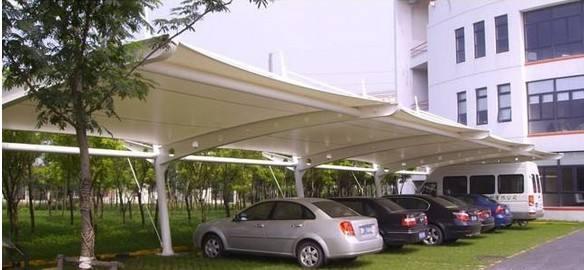 苏州停车棚  江苏膜结构停车棚订做可上门服务