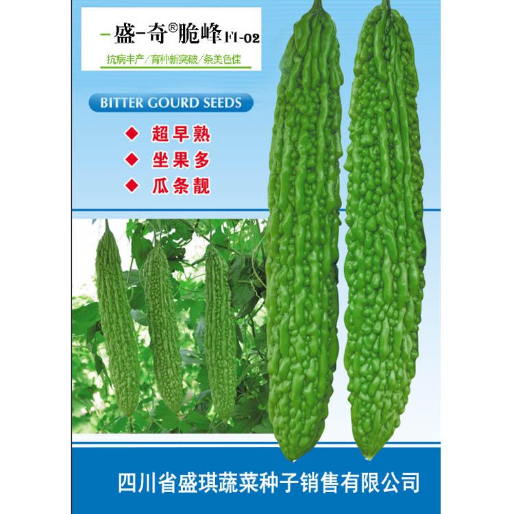 长条苦瓜种子早熟,翠绿, 适宜试种成功地区春季抢早栽培 苦瓜种子