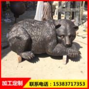 铜熊雕塑图片