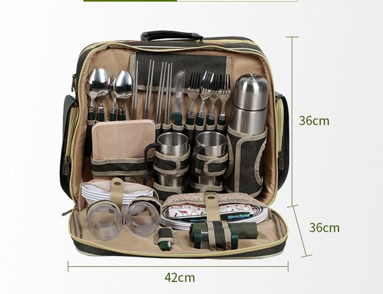 豪华野餐包户外便携多功能多人餐具套装保温包 户外野餐包