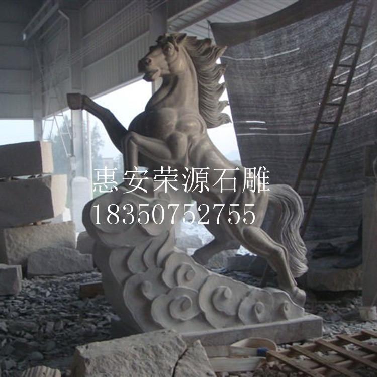 加工定制十二生肖马雕像 公园景观马 奔腾马动物雕塑