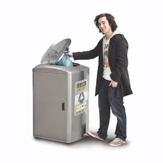 脚踏式金属垃圾桶DL-11金属垃圾桶价格