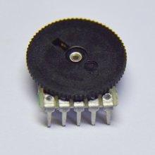 东莞厂家生产高品质7脚16*2双联弯脚电位器带支架 16*1 1  16*2双联弯电位器 16*2双联弯脚电位器