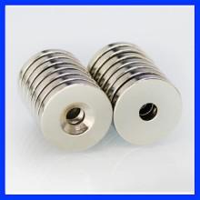 供应沉头孔永久磁铁钕铁硼强磁铁 沉孔磁铁批发