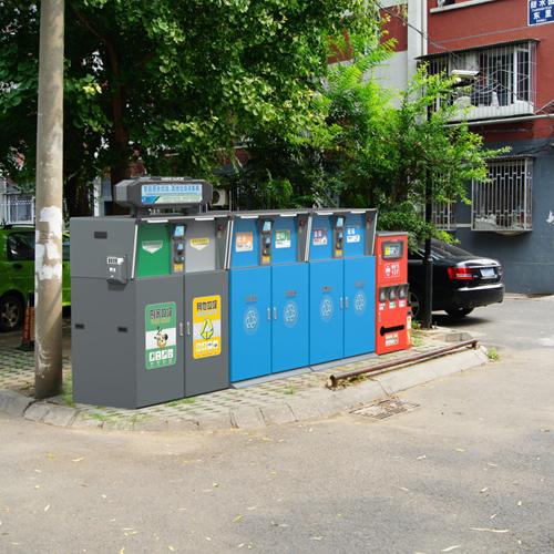 智能可分类垃圾桶 收集纸张 金属 玻璃 960L
