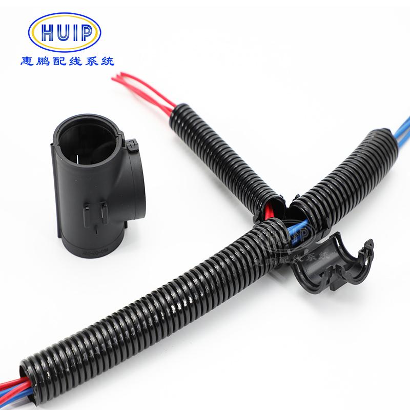 厂家直销波纹管T型三通KT10-10-10 (3*AD10卡槽式波纹管附件