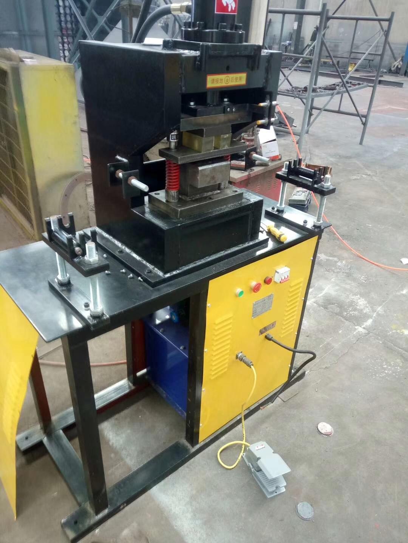 液压法兰冲孔机全自动角钢槽钢冲孔力边液压多功能除尘制作专用机械