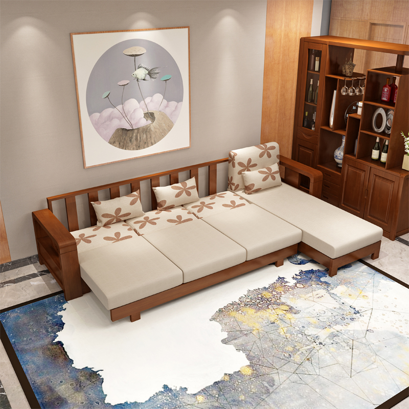 中式现代沙发 沙发批发 全实木沙发厂家直销