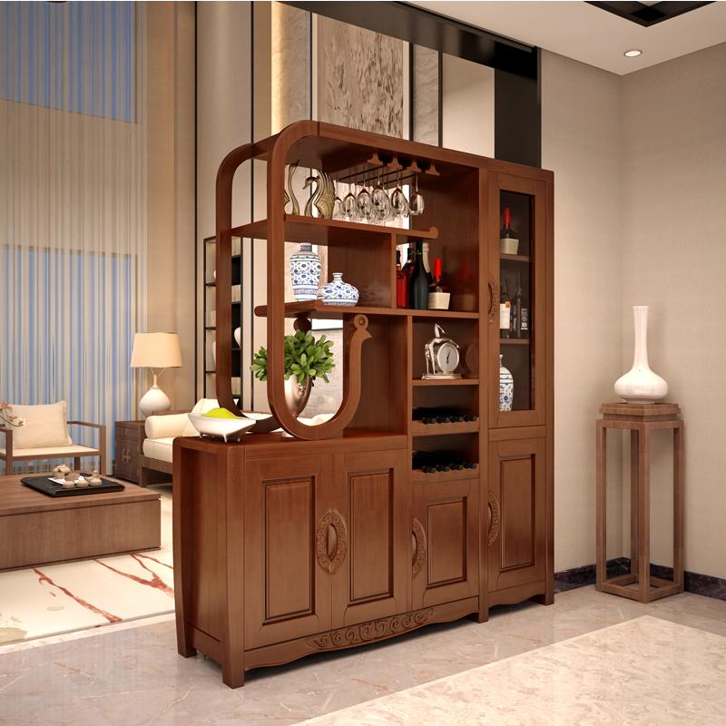 客厅隔断柜 实木客厅玄关柜 厅柜采购报价